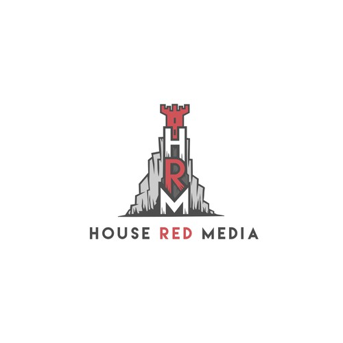 Logo for film company House Red Media