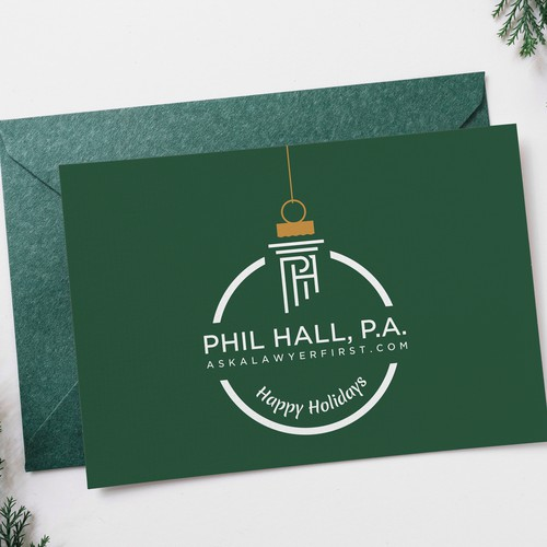Logo Turned Into Holiday Card