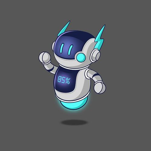 Cute Gullible Robot Mascot