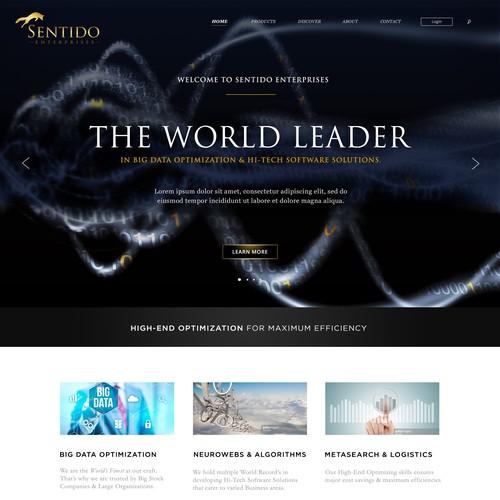 Hi-Tech & Classical Website Design for 'Sentido Enterprises'.