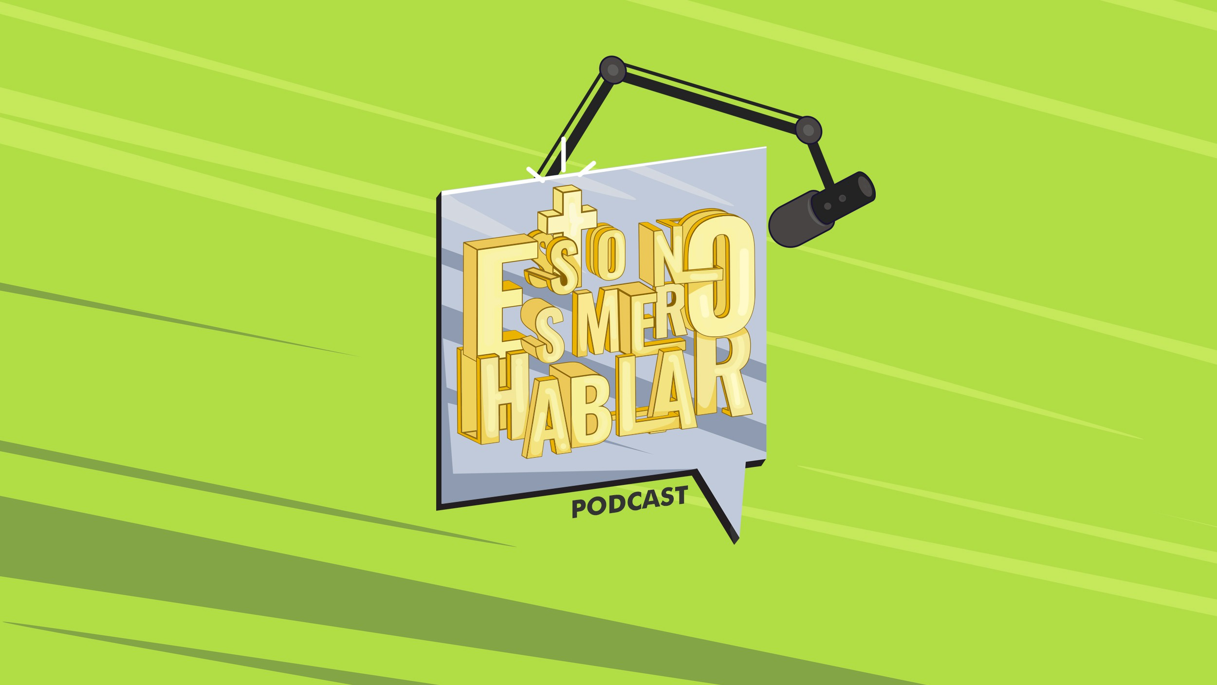 I'll create a new podcast cover (Esto no es mero hablar)