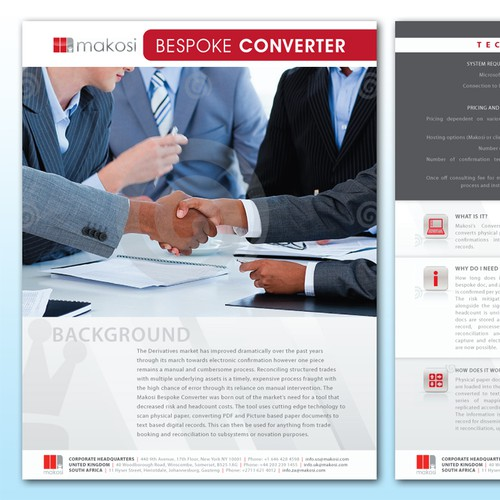 Brochure Redesign needed for Consulting Firm