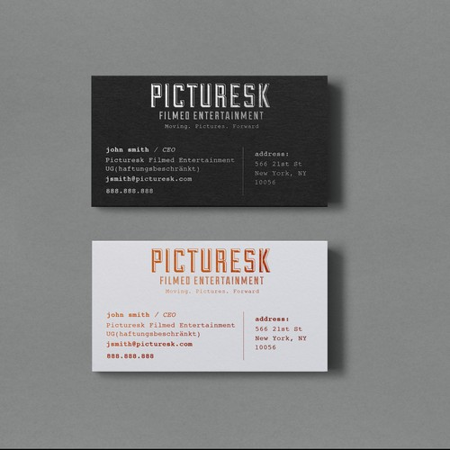 Business card design with typewriter feel
