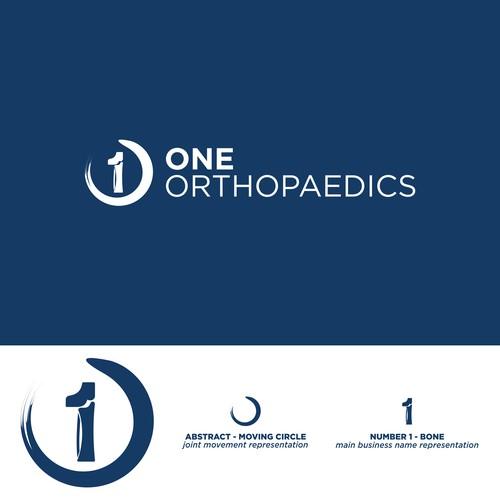 orthopaedics logo concept