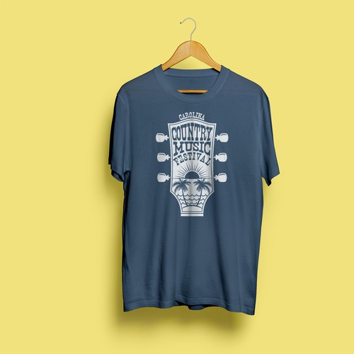 T-shirt design for Country Music Festival