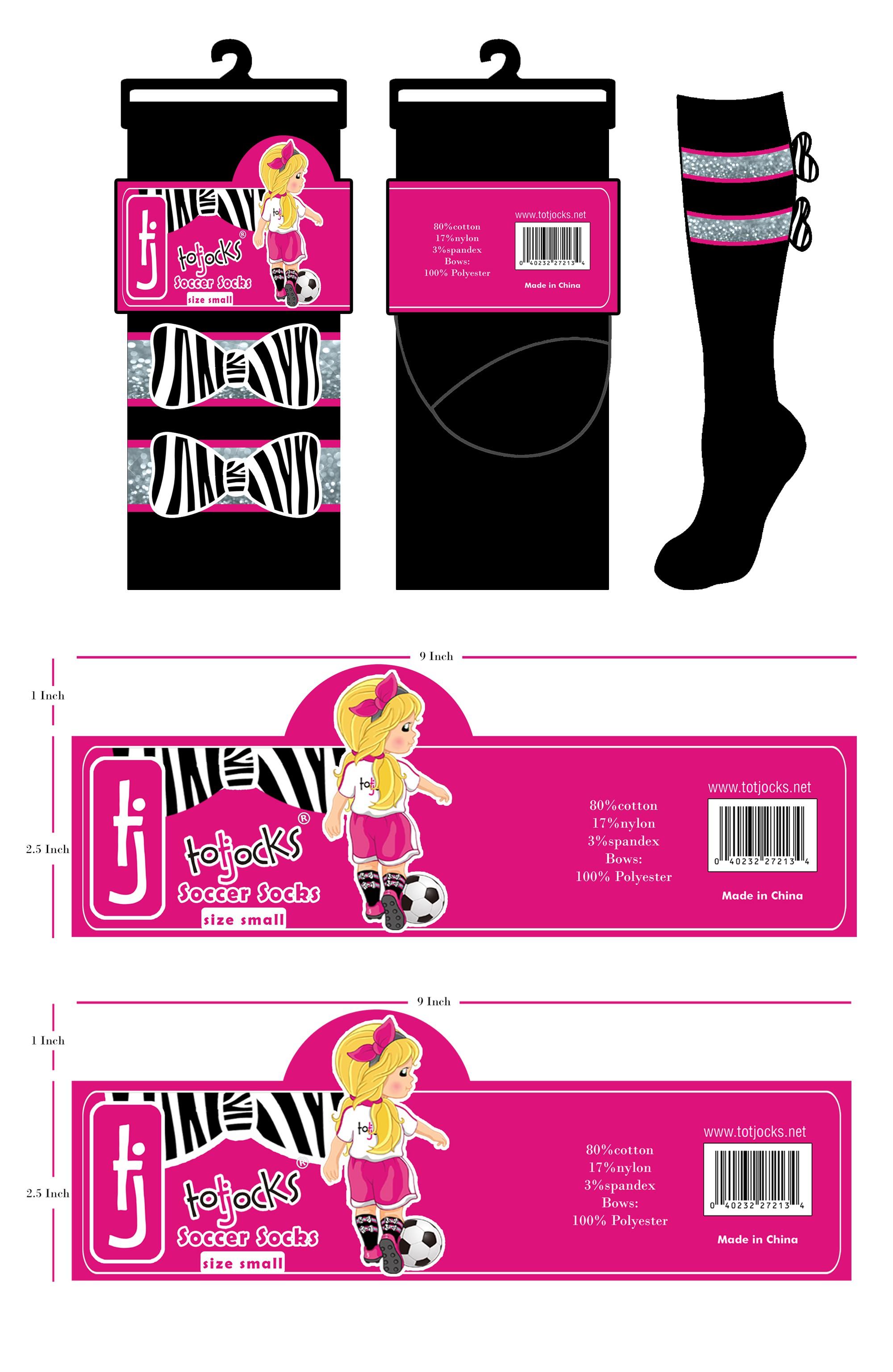 Create artwork for packaging of super cute girly-girl soccer socks!