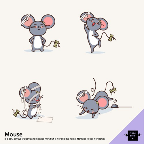 A fun mouse mascot to complete our Art-Holics family!