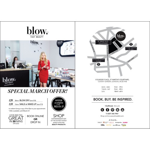 Blow us away with your amazing design for a buzzy beauty business @blowltd