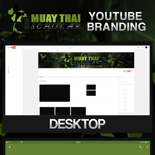 YouTube Channel Art For Thai Boxing Channel
