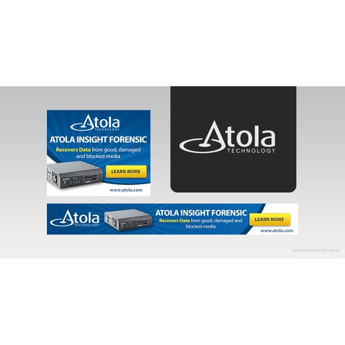 Create 2 attractive banners for Atola Insight Forensic