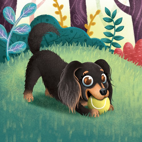 Paisley and the Missing Yellow Ball Book Illustration