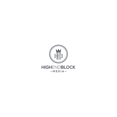 elegant logo for high end block