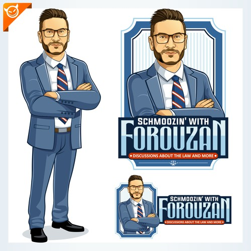 CHARACTER LOGO DESIGN for SCHMOOZIN with FOROUZAN