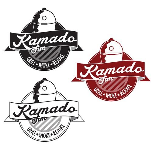Vintage badge logo needed for grilling website, social media