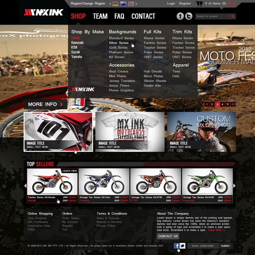 New website design wanted for action sports brand