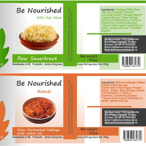 Create the next product label for Be Nourished