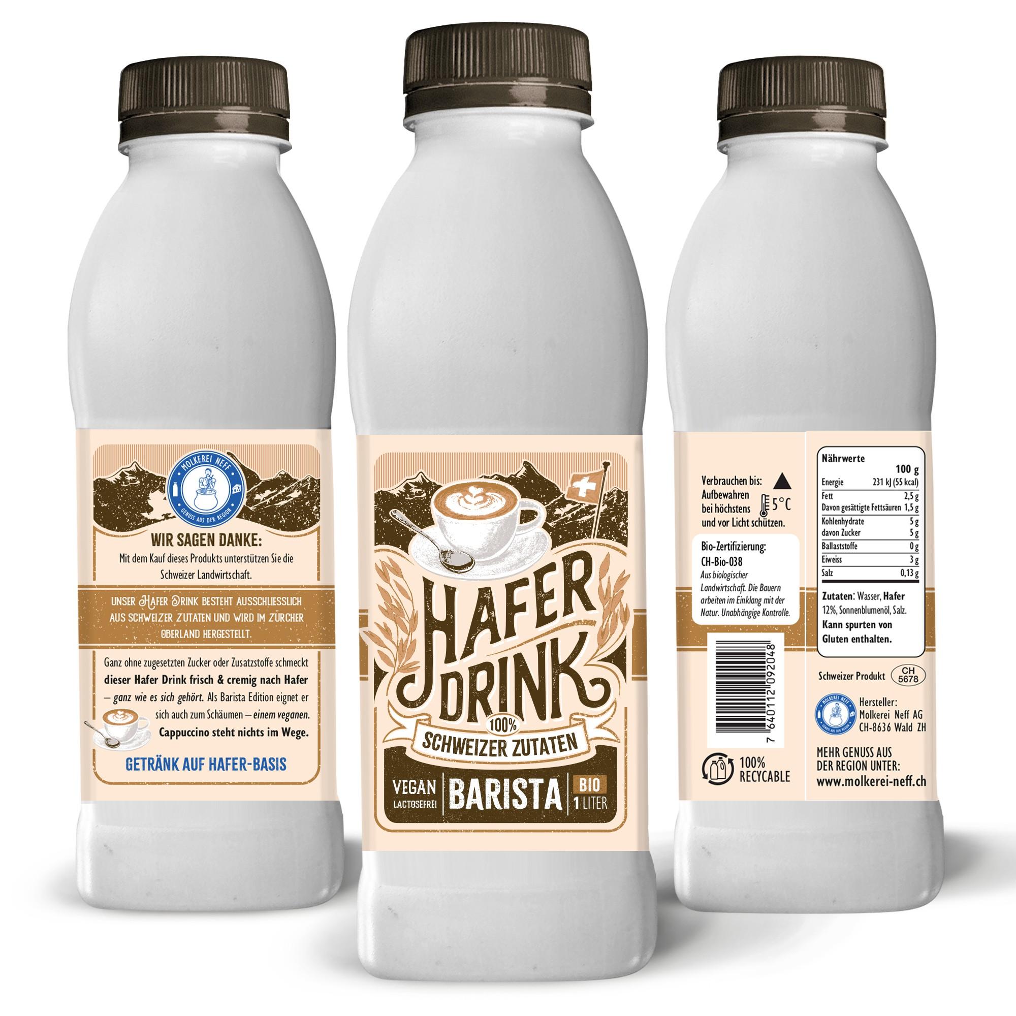 Product Design: Schweizer Hafer Drink in 1l Flasche