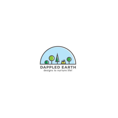 Colorful logo for a landscape company
