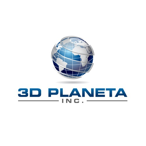 Logo design for 3D Planeta Inc.