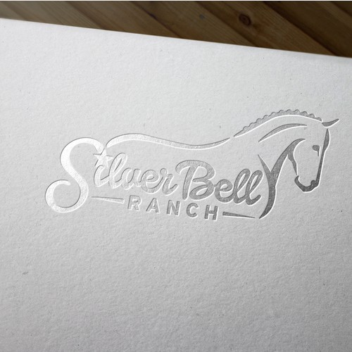 Classy logo for dressage horse facility