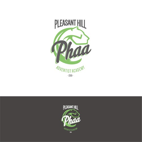 Simple and clean concept for Pleasant Hill Advent Academy t-shirt