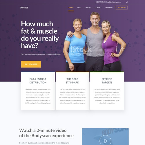 Physical Fitness webpage redesign