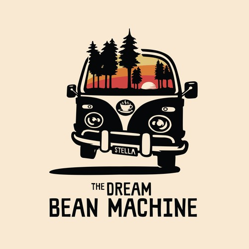 The Dream Bean Machine logo and t-shirt