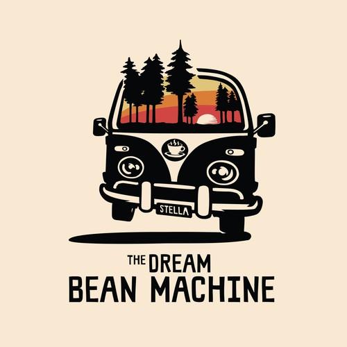 The Dream Bean Machine logo and t-shirt