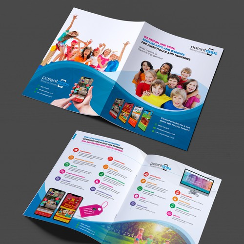 Fun engaging brochure targeted to Nursery(Daycare/preschool) Owners