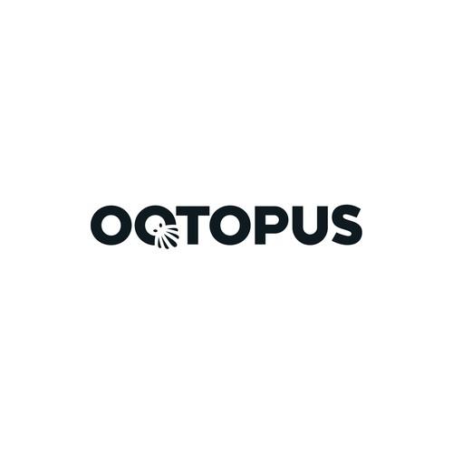 Simple logotype for Octopus AV studio