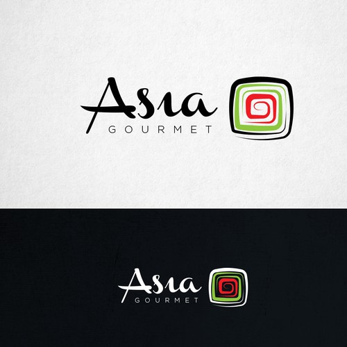 Logo for oriental restaurant (sushi being the main plate)