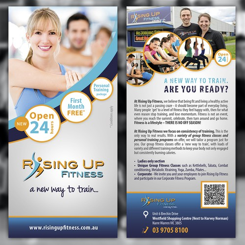 Flyer for Rising Up Fitness