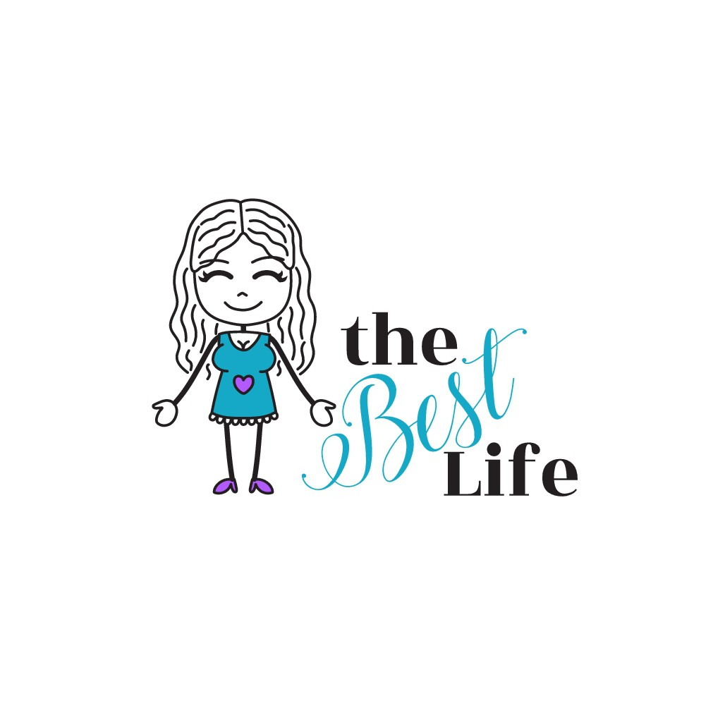 Logo for a weight loss coach and journaling program.  Clean lines, fun, girlie.   Cartoon included- stick figure type gi