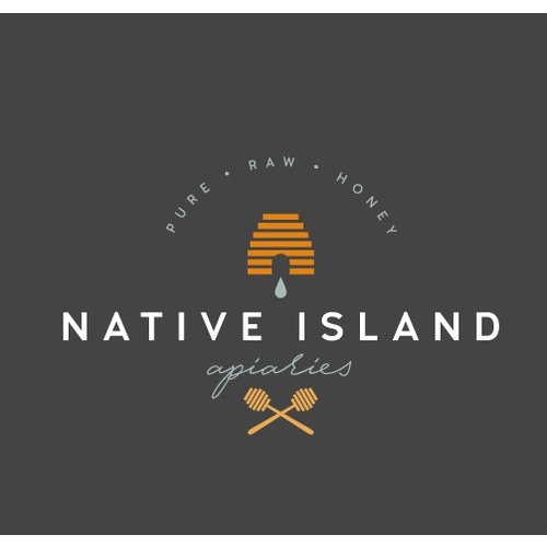 Logo, Brand Identity, and Brand Guide for Native Island Apiaries