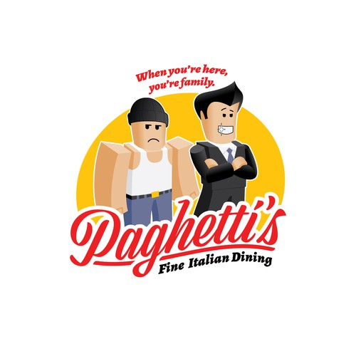Tee shirt for RoCitizens favorite eatery, Paghetti's.