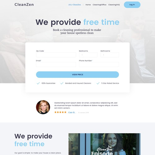Cleaning company webdesign