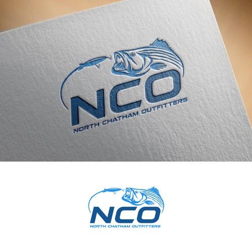 Fishing, bait, tackle logo