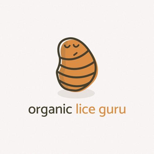 Organic Lice Guru Logo Design