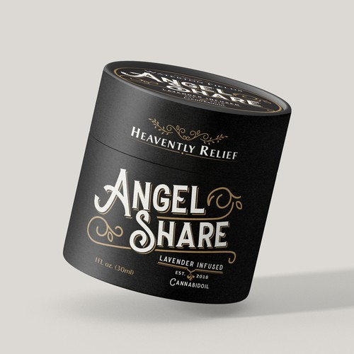 Label design for Angel Cream and Angel Share