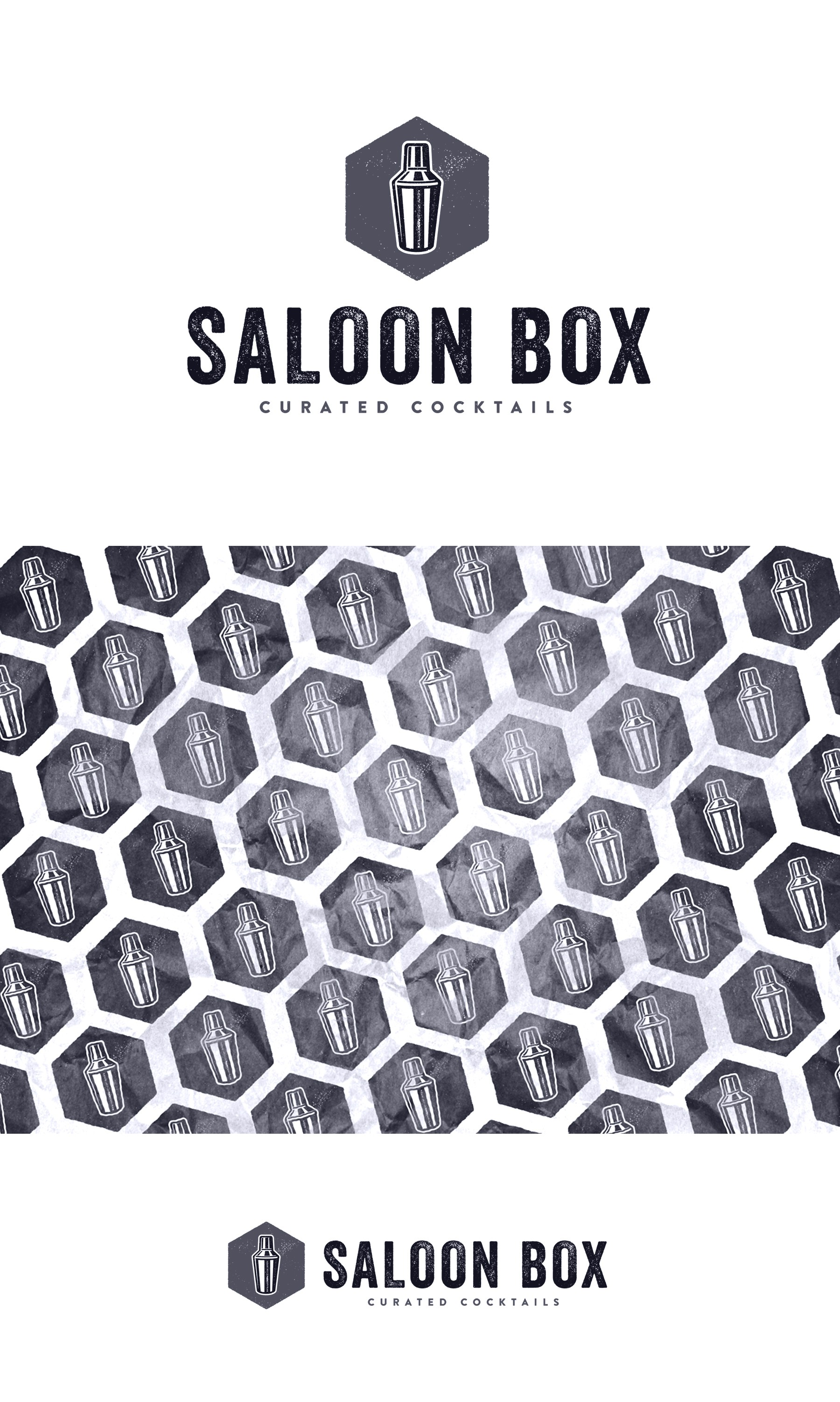 Company logo for cocktail kit in box subscription service called SaloonBox