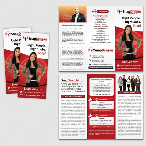 New brochure design wanted for SnapDragon Associates.com