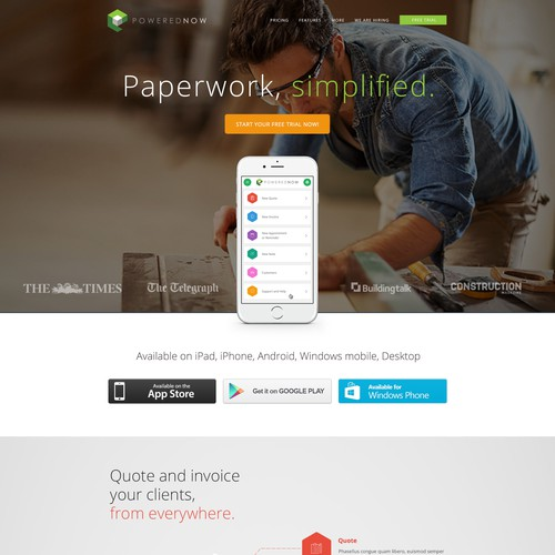 Create a website for award winning app company