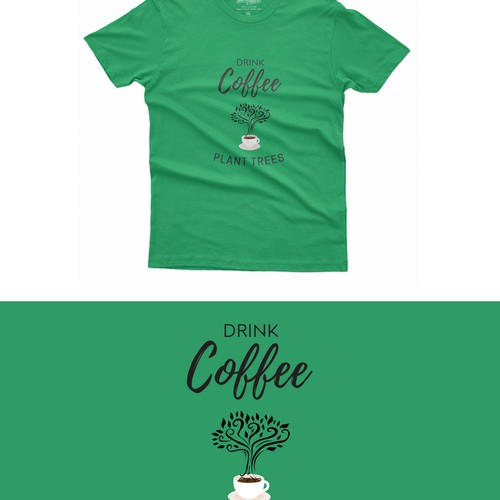 T-shirt Design for a coffee business