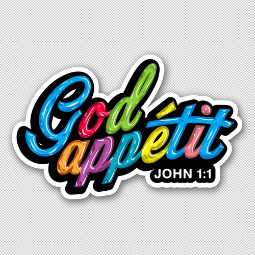 Sticker Design for God Appetit