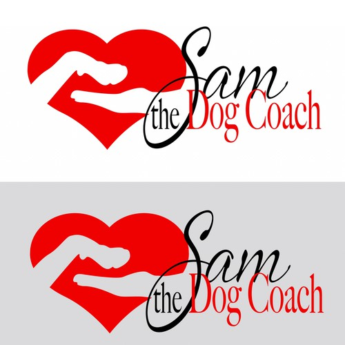 Logo for dog coach