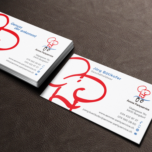 business card for party caterer