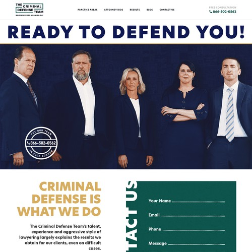 Bold and professional, wordpress-theme for trial attorneys
