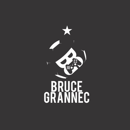 Concept logo for Bruce Grannec (an e-sports player)