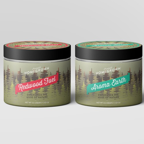 Label design for a sustainable modern Cannabis brand