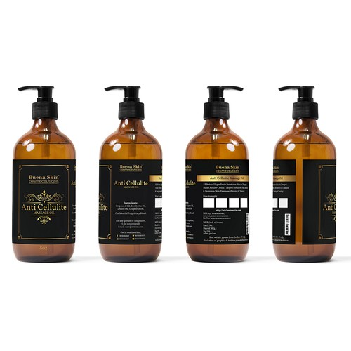 Label Design for a Massage Oil